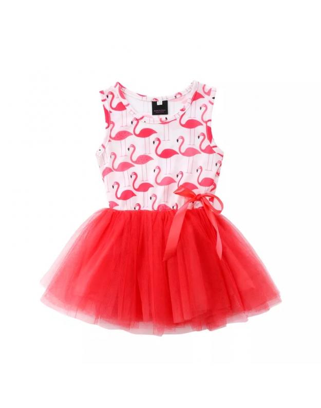 Vasarinė suknelė mergaitei Flamingo