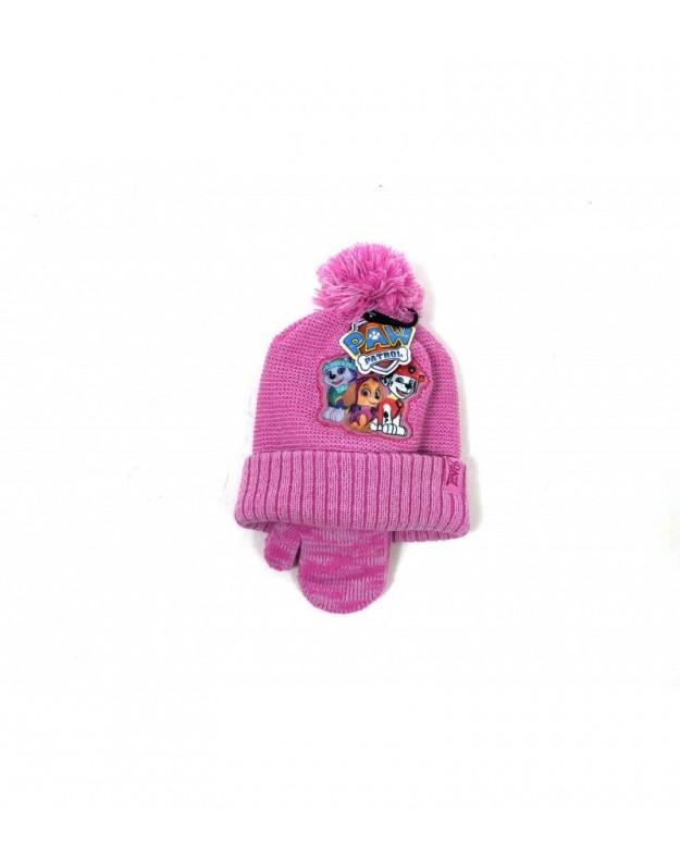 Šilta kepurė ir pirštinės mergaitei (2-6 metai)