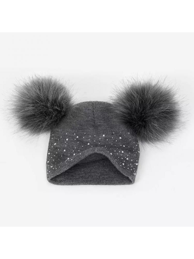 Blizgi žieminė kepurė mergaitei (1-5 metai)