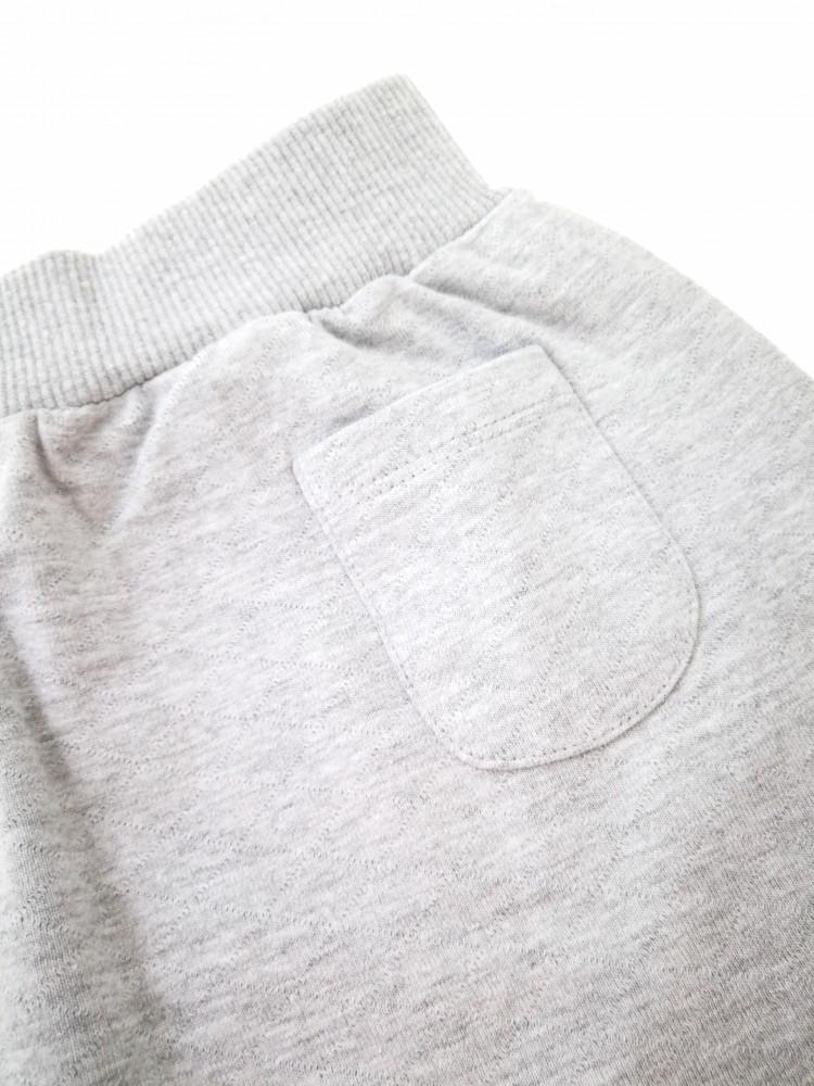 Pilkas storos medvilnės sijonas su kišenėmis