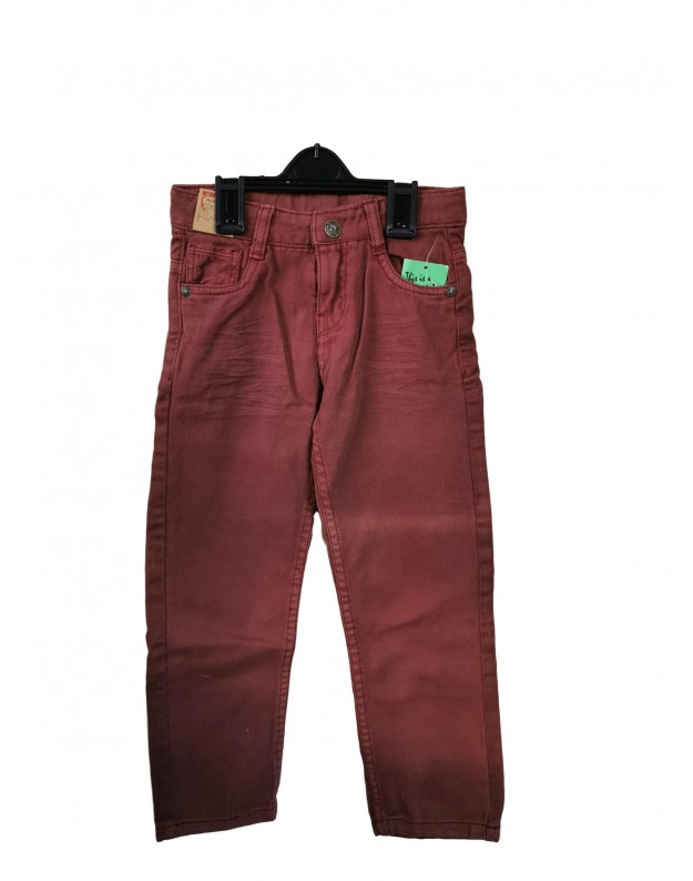 Bordo spalvos džinsai berniukui 110cm