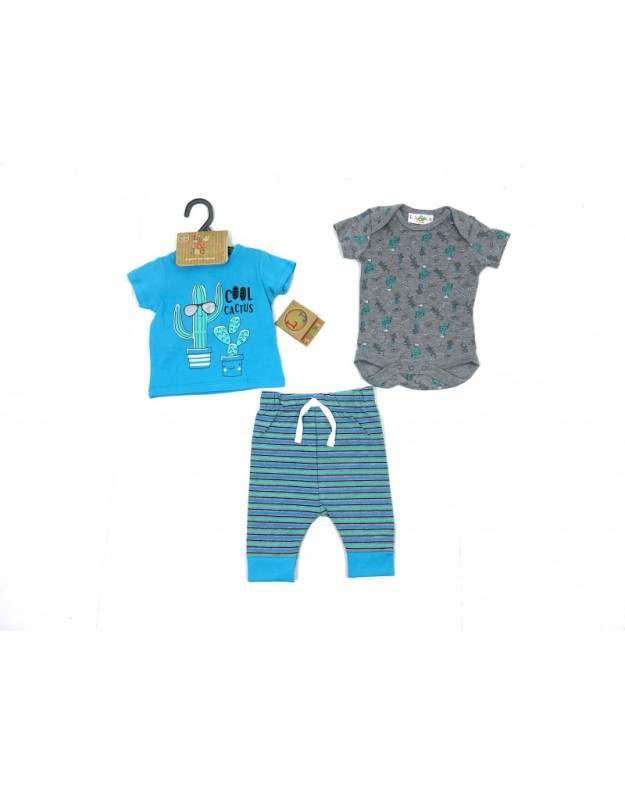 Lily & Jack 3 dalių medvilninis komplektukas kūdikiui
