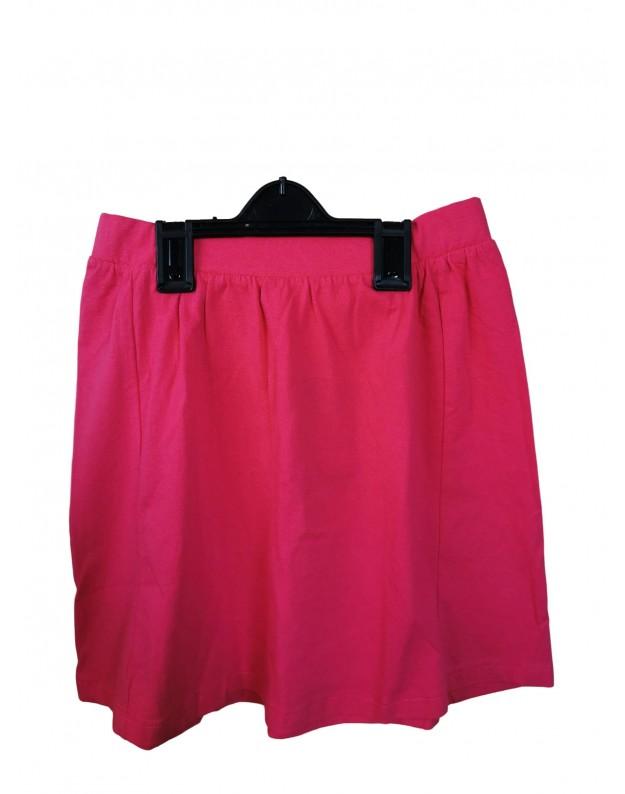 Medvilninis sijonas rožinis 128cm