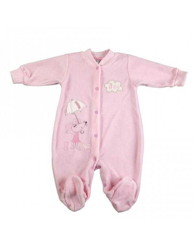 Veliūriniai šliaužtinukai kūdikiui rožiniai 74cm