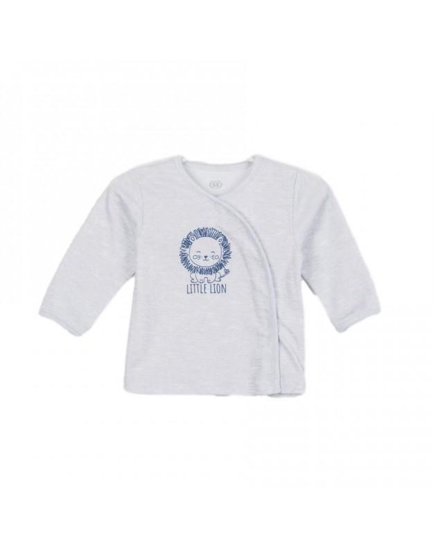 Marškinėliai kūdikiui pilki Little Lion
