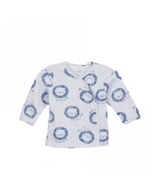 Marškinėliai kūdikiui pilka mėlyna Little Lion