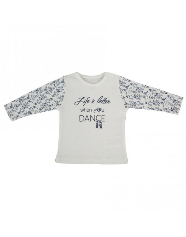 Medvilniniai marškinėliai kūdikiui Dance