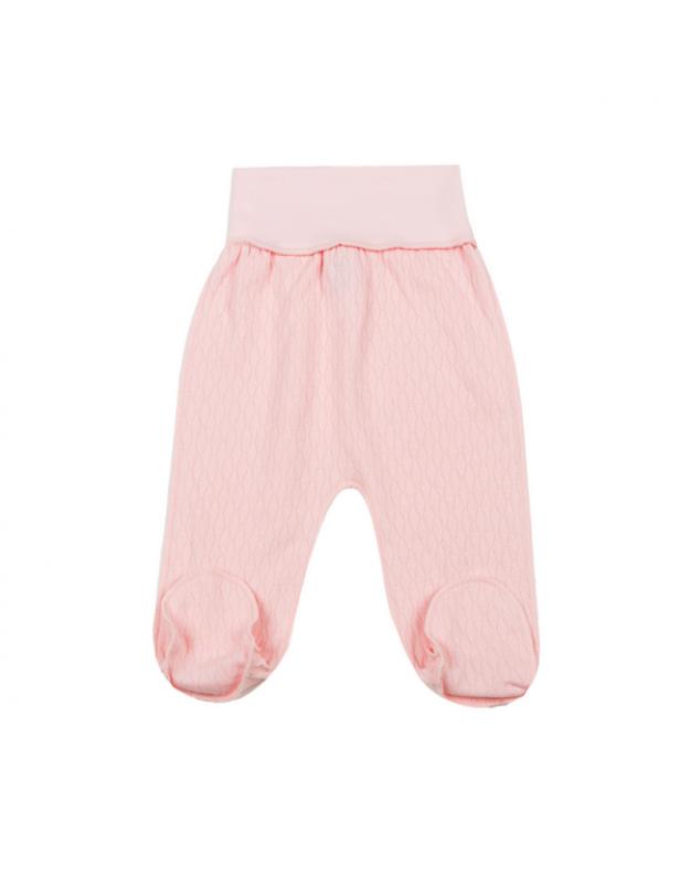 Kelnytės kūdikiui išvirkštinėmis siūlėmis rožinės 62cm