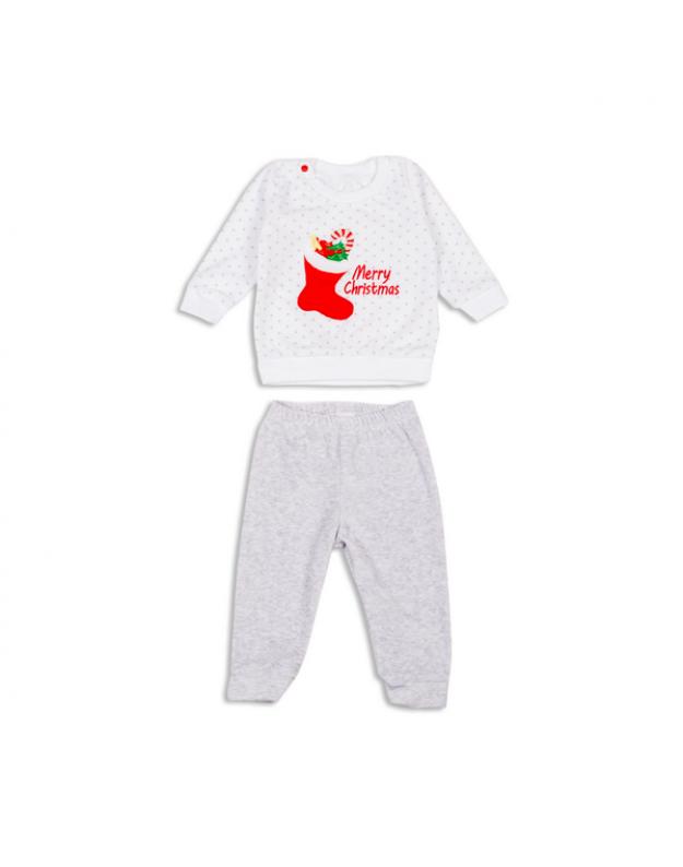 Veliūrinis komplektukas kūdikiui Merry Christmas 80cm