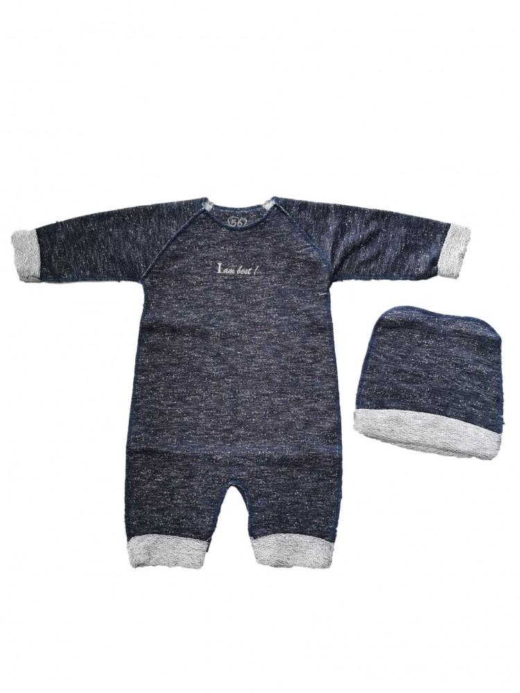 Madingas mėlynas 2 dalių komplektukas kūdikiui