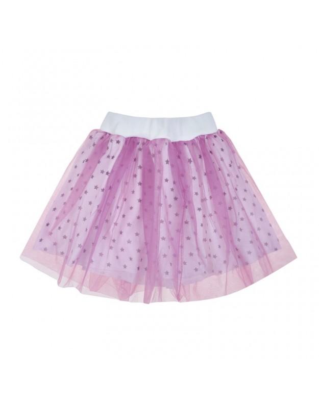 Žvaigždėtas violetinis tiulio sijonas mergaitei (92-98cm)