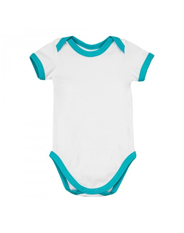 Smėlinukai kūdikiui balti trumpomis rankovėmis 86cm