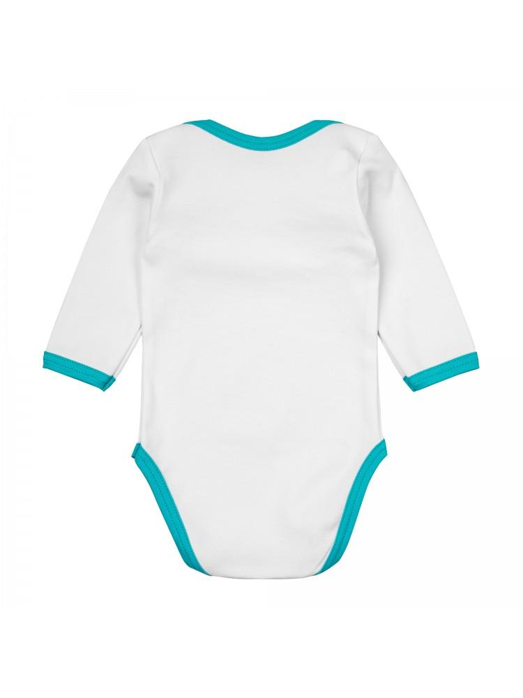 Smėlinukų komplektas kūdikiui balta žydra Milk Mom Rock & Roll