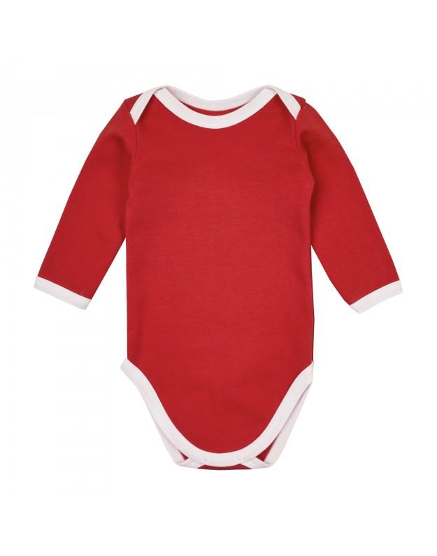 Smėlinukai kūdikiui raudoni ilgomis rankovėmis 74cm