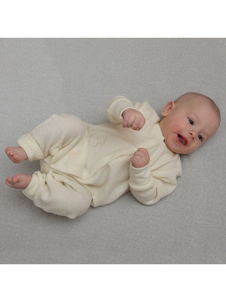 Merino vilnos frote kombinezonas kūdikiui