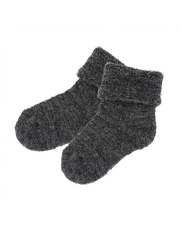 Merino vilnos kojinės kūdikiui pilkos 12cm