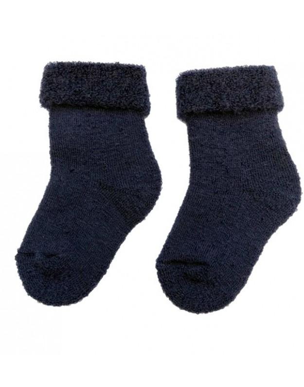 Merino vilnos kojinės kūdikiui mėlynos 10cm