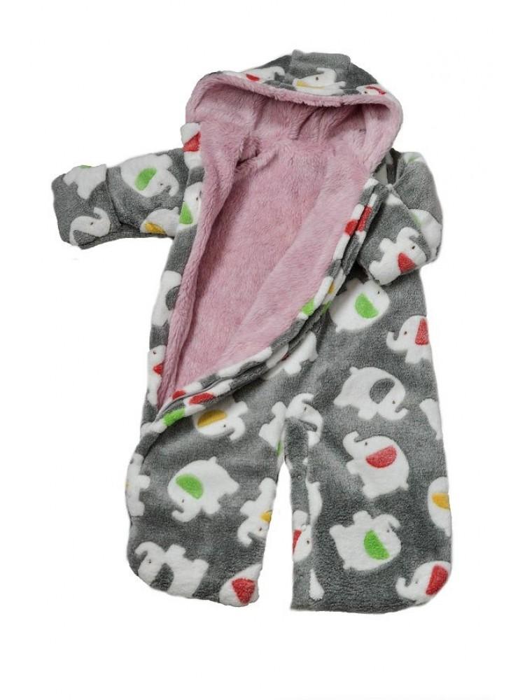 Kombinezonas vokelis kūdikiui rožinis