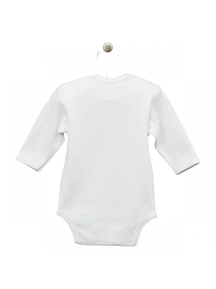 Smėlinukai kūdikiams ilgomis rankovėmis balti