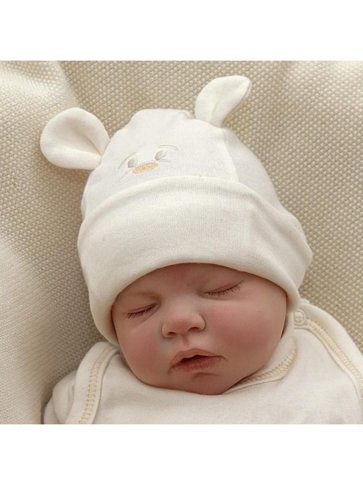 Kepurytė kūdikiui iš ekologiškos medvilnės Lulu
