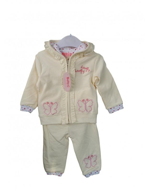 BabyC 2 dalių geltonas kostiumėlis kūdikiui