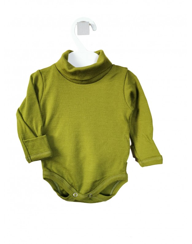 Žalias merino vilnos golfas smėlinukas kūdikiui 62cm