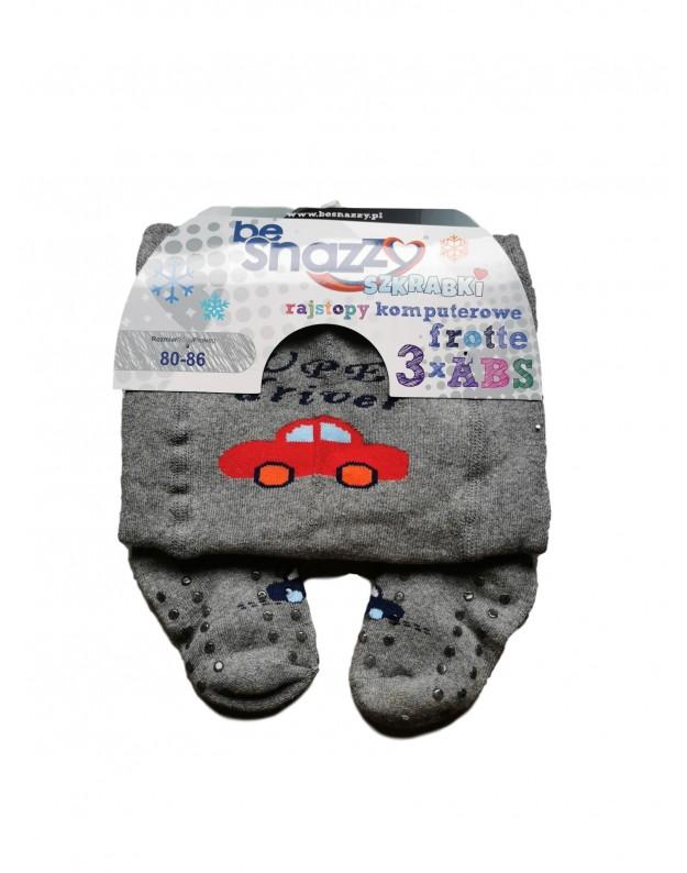 Frotinės pėdkelnės ropojimui 3 x ABS pilkos driver