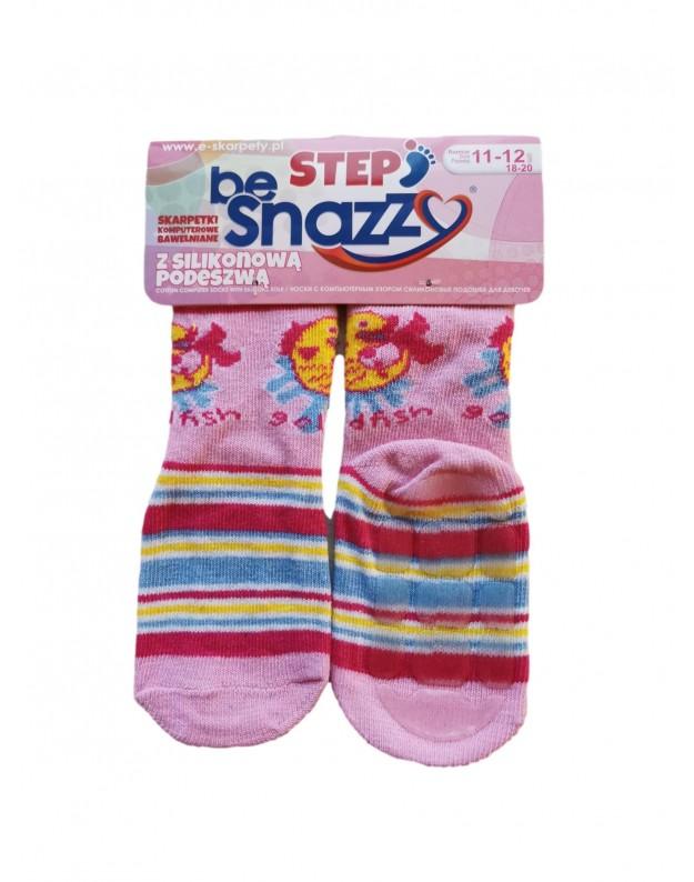 Kojinės kūdikiams ABS gumuotais padais Žuvytė