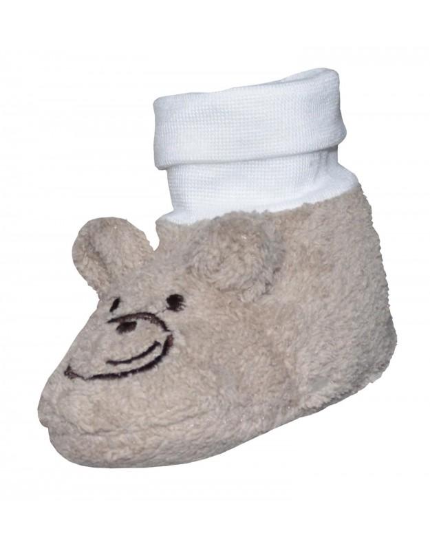 Šilti tapukai kojinytės kūdikiui rudi