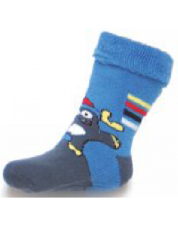 Frotinės kojinytės kūdikiui gumuotais padukais (1-2 metai)