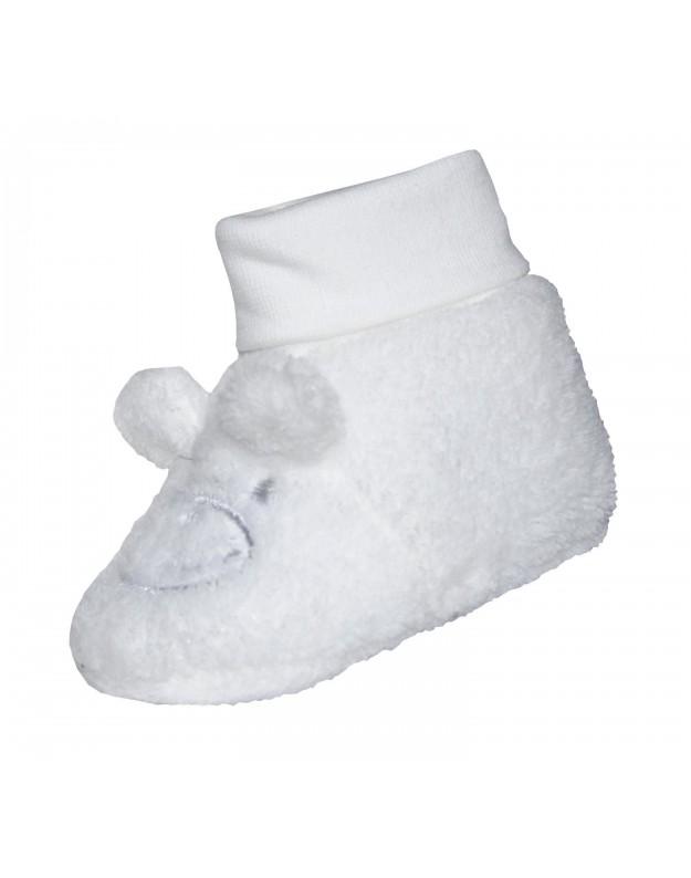 Šilti tapukai kojinytės kūdikiui balti