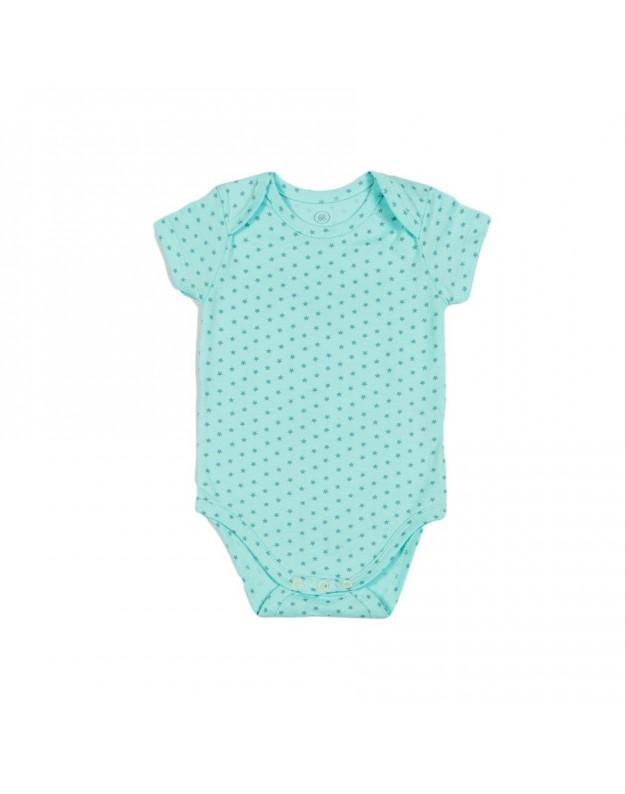 Smėlinukas trumpomis rankovėmis kūdikiui žvaigždutės