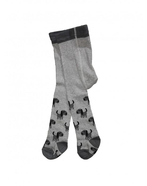 Pilkos pėdkelnės berniukams šuniukai