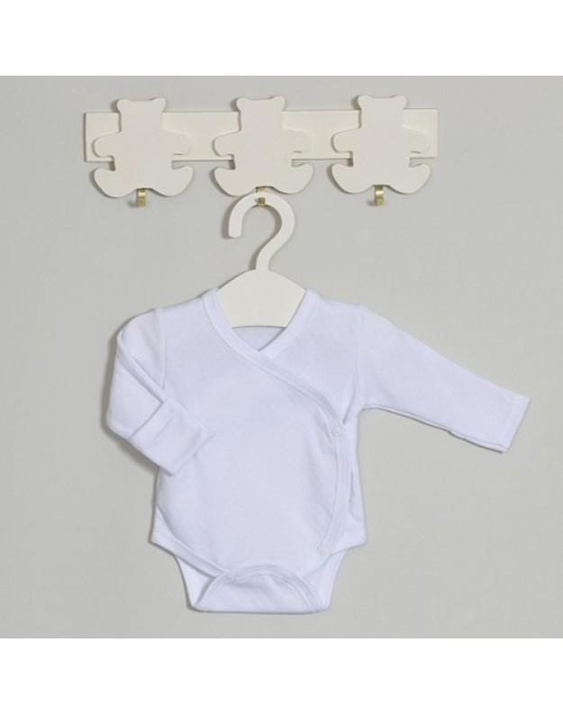 Baltas smėlinukas kūdikiui susiaučiamas šone 62cm