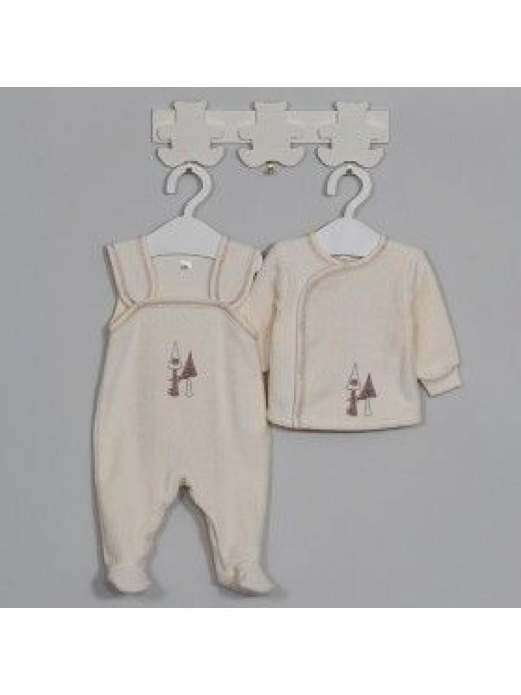 Šilti marškinėliai kūdikiui termofrote smėliniai