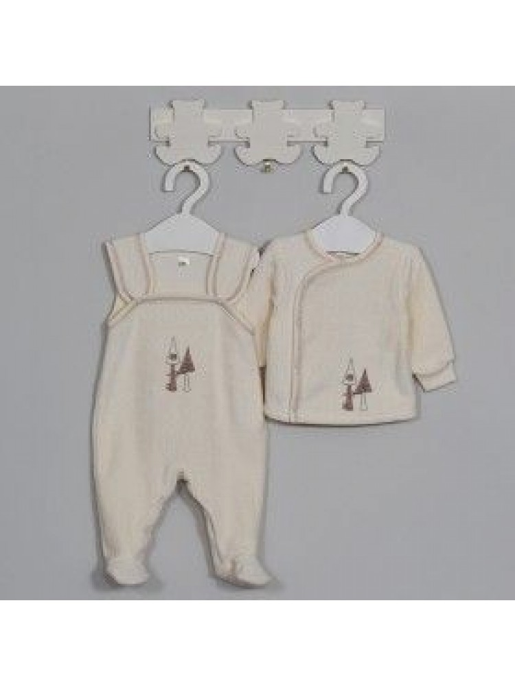 Šilti šliaužtinukai kūdikiui termofrote smėliniai 62cm