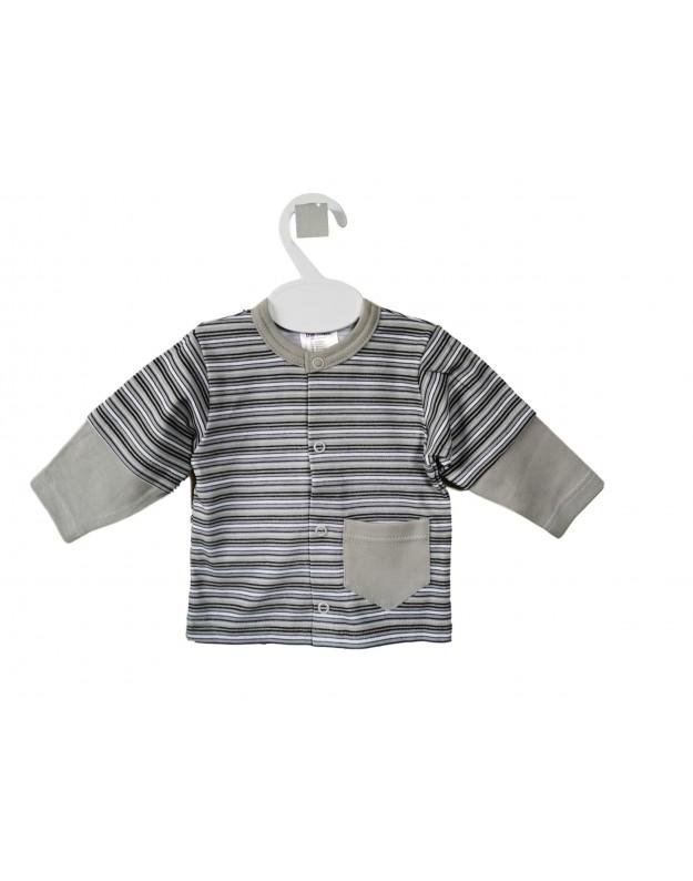 Marškinėliai kūdikiui ilgomis rankovėmis dryžuoti