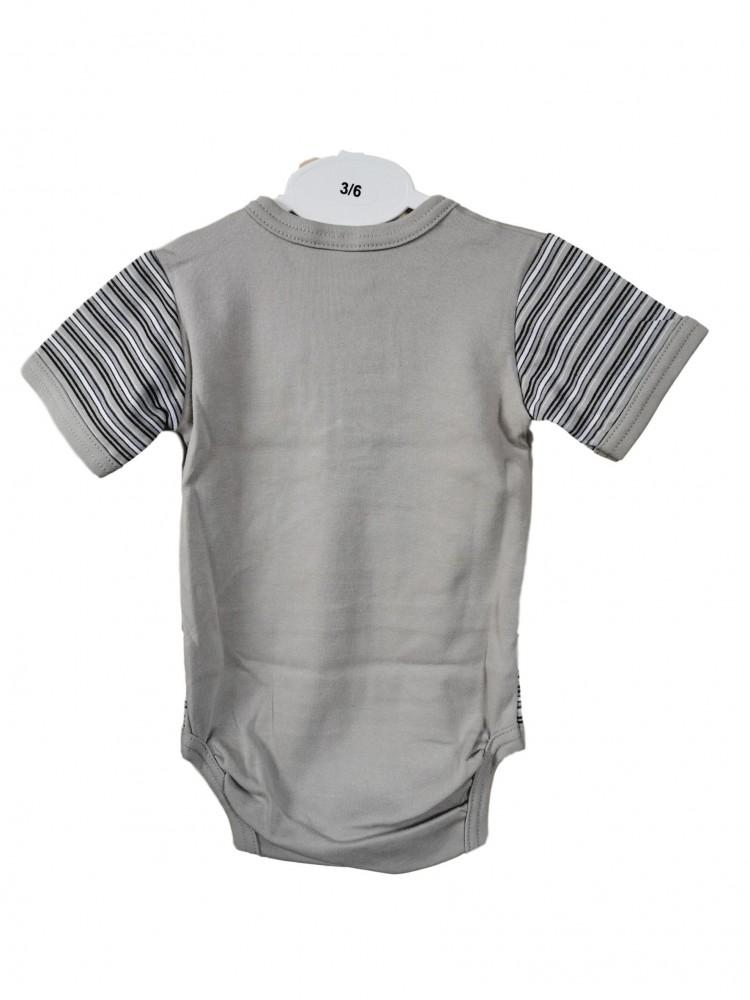Smėlinukas kūdikiui trumpomis rankovėmis dryžuotas 68cm