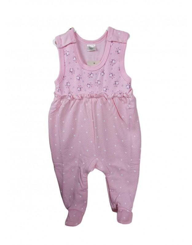 Šilti rožiniai šliaužtinukai kūdikiui Lala 74cm