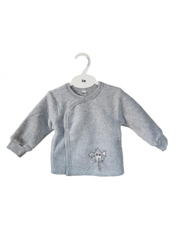 Šilti marškinėliai kūdikiui termofrote pilki