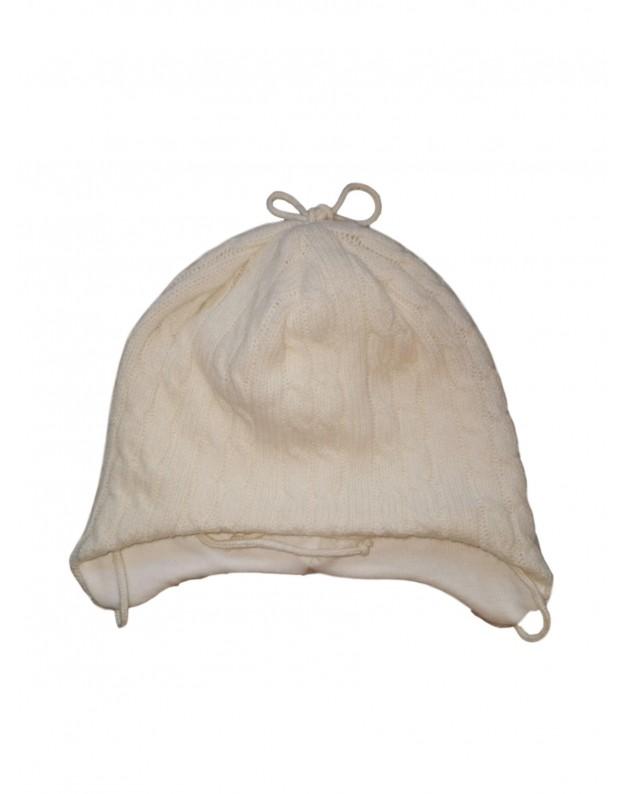Šilta merino vilnos kepurė kūdikiui 48cm