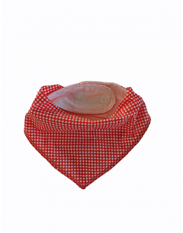 Dviguba kaklaskarė kūdikiui Domino raudona