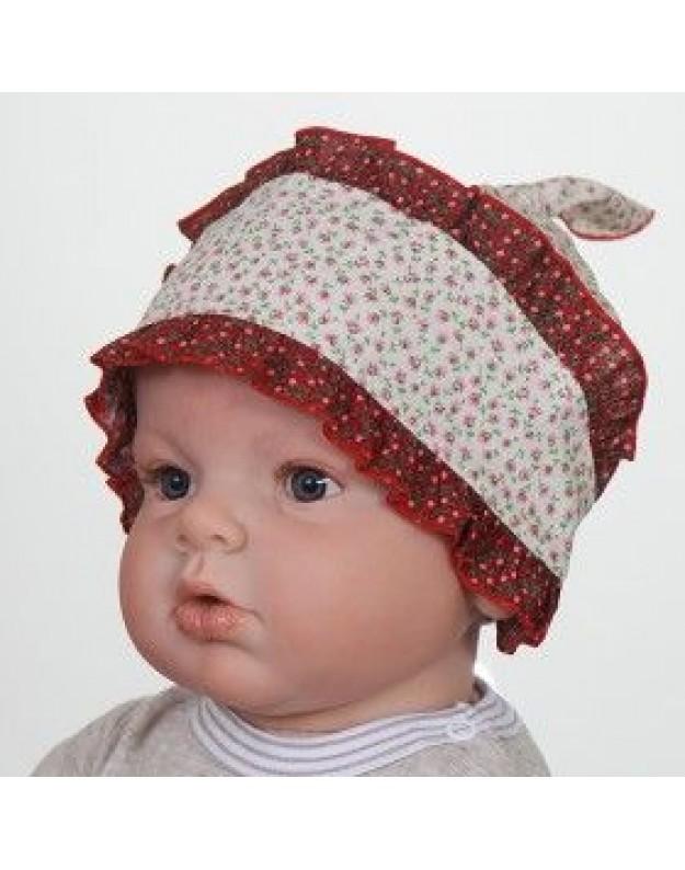 Vasarinė kepurė skarelė mergaitei 48cm