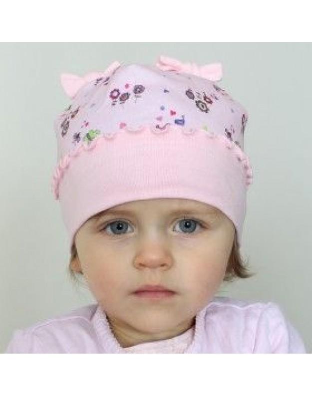 Vasarinė kepuraitė mergaitei rožinė