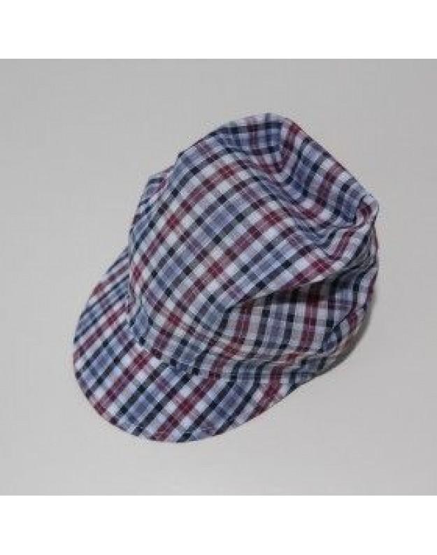 Vasarinė languota kepurė berniukui 48cm